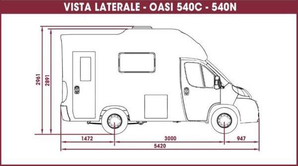 vista-laterale-camper-oasi-540C-e-540N – kopie